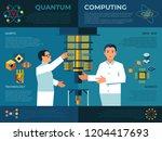digital vector quantum... | Shutterstock .eps vector #1204417693