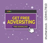 annoying pop up advertising on... | Shutterstock .eps vector #1204417810