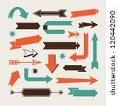 set of arrows and directions ... | Shutterstock .eps vector #120442090