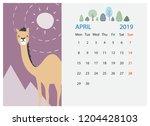 April 2019 Calendar Design In...