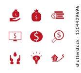 wealth icon. wealth vector... | Shutterstock .eps vector #1204429696