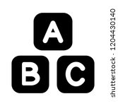 abc alphabet icon. simple... | Shutterstock .eps vector #1204430140