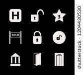 entrance icon. entrance vector... | Shutterstock .eps vector #1204430530