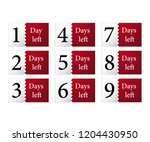 1 2 3 4 5 6 7 days left counter.... | Shutterstock .eps vector #1204430950