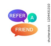 refer a friend icon . referral... | Shutterstock .eps vector #1204431310