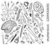 set of hand drawn sketch vector ...   Shutterstock .eps vector #1204433650