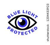 blue light protected eye symbol ... | Shutterstock .eps vector #1204433923