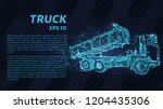 truck of the particles. the... | Shutterstock .eps vector #1204435306