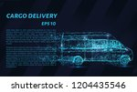 cargo delivery on a dark... | Shutterstock .eps vector #1204435546