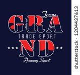grand jeans slogan design | Shutterstock .eps vector #1204437613