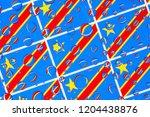 flags  of democratic republic... | Shutterstock . vector #1204438876