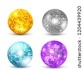disco ball isolated set... | Shutterstock . vector #1204439920