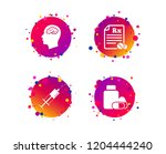medicine icons. medical tablets ... | Shutterstock .eps vector #1204444240
