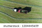 aerial top down photo of chaser ... | Shutterstock . vector #1204445659