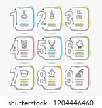 infographic template with... | Shutterstock .eps vector #1204446460