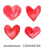 set  collection of various hand ... | Shutterstock . vector #1204446763