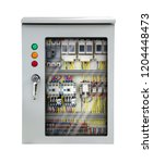 electrical switchboard internal ... | Shutterstock . vector #1204448473