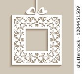 square vector frame with cutout ... | Shutterstock .eps vector #1204451509