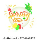 composition with phrase spring... | Shutterstock .eps vector #1204462339
