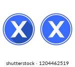close round flat icon