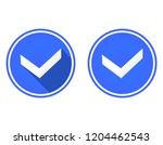 tick round flat icon  use...