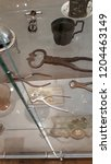 Small photo of Moscow / Russian Federation - October 16 2018: Museum. Vintage Sugar Tongs.