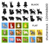 toy animals flat icons in set... | Shutterstock .eps vector #1204468600