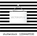hanging sign black and white... | Shutterstock .eps vector #1204469530