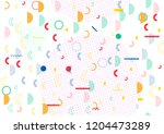 simple memphis cover  vector... | Shutterstock .eps vector #1204473289