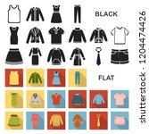 different kinds of clothes flat ... | Shutterstock .eps vector #1204474426