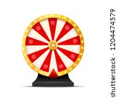 wheel of fortune lottery luck... | Shutterstock . vector #1204474579