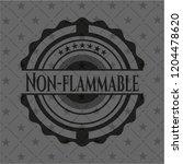 non flammable retro style black ... | Shutterstock .eps vector #1204478620