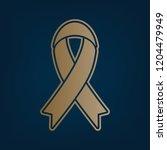 black awareness ribbon sign.... | Shutterstock .eps vector #1204479949
