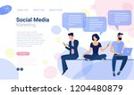 flat design  web page template... | Shutterstock .eps vector #1204480879