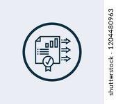 stats icon. vector illustration | Shutterstock .eps vector #1204480963