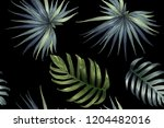 green red exotic pattern.... | Shutterstock .eps vector #1204482016