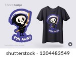 funny skeleton. print on t... | Shutterstock .eps vector #1204483549