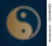 ying yang symbol of harmony and ... | Shutterstock .eps vector #1204486483
