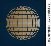 earth globe sign. vector.... | Shutterstock .eps vector #1204486696