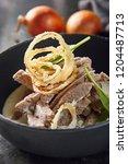 hot beef stroganoff or beef... | Shutterstock . vector #1204487713