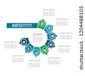 vector infographic template for ...   Shutterstock .eps vector #1204488103