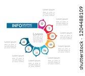 vector infographic template for ... | Shutterstock .eps vector #1204488109