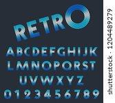 retro light font template. set... | Shutterstock .eps vector #1204489279