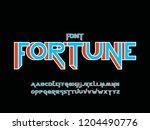 fortune 3d font. vector... | Shutterstock .eps vector #1204490776