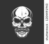 vintage skull with mustache in...   Shutterstock .eps vector #1204491943