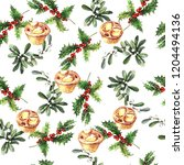 watercolor pattern with...   Shutterstock . vector #1204494136