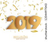 happy new year or christmas... | Shutterstock .eps vector #1204497043