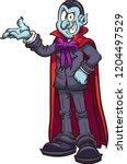 cartoon vampire showcasing... | Shutterstock .eps vector #1204497529