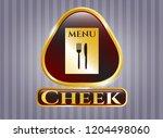 golden emblem or badge with... | Shutterstock .eps vector #1204498060