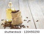 oil of cloves | Shutterstock . vector #120450250
